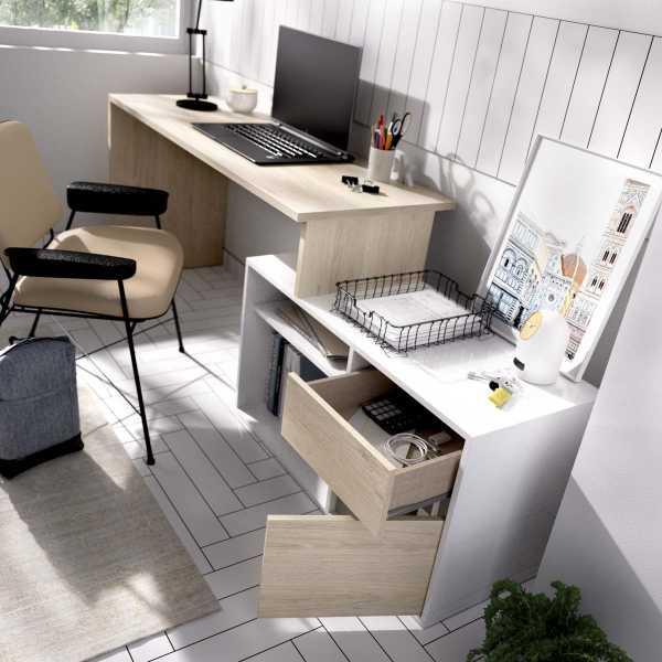 mesa oficina blanco natural 8