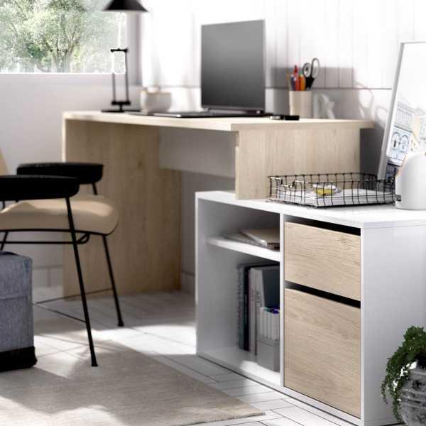 mesa oficina blanco natural 9