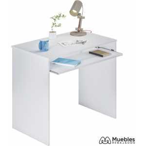 mesa para ordenador pequeña blanca 002314a