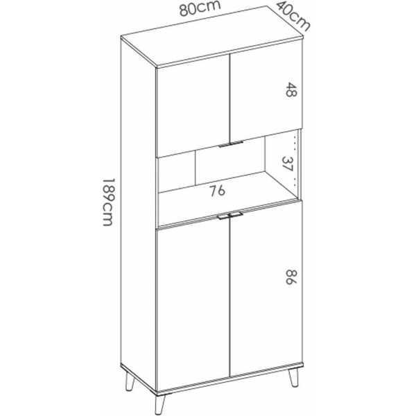 mueble auxiliar dos puertas