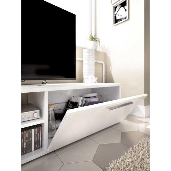 mueble bajo tv blanco brillo 1