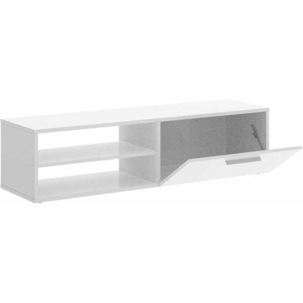 mueble bajo tv blanco brillo 3