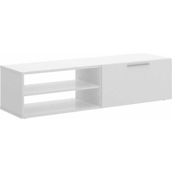 mueble bajo tv blanco brillo 4