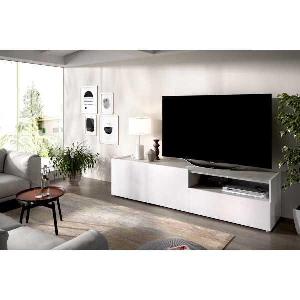 mueble bajo tv cemento 2