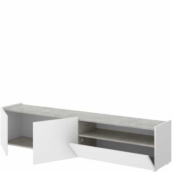 mueble bajo tv cemento 3