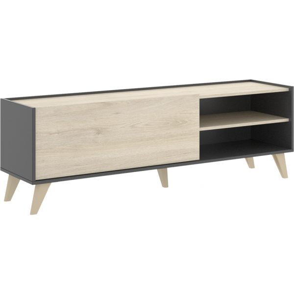 mueble bajo tv grafito 155 cm 1