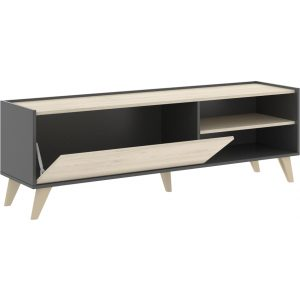 mueble bajo tv grafito 155 cm 2