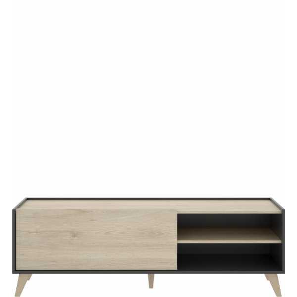 mueble bajo tv grafito 155 cm