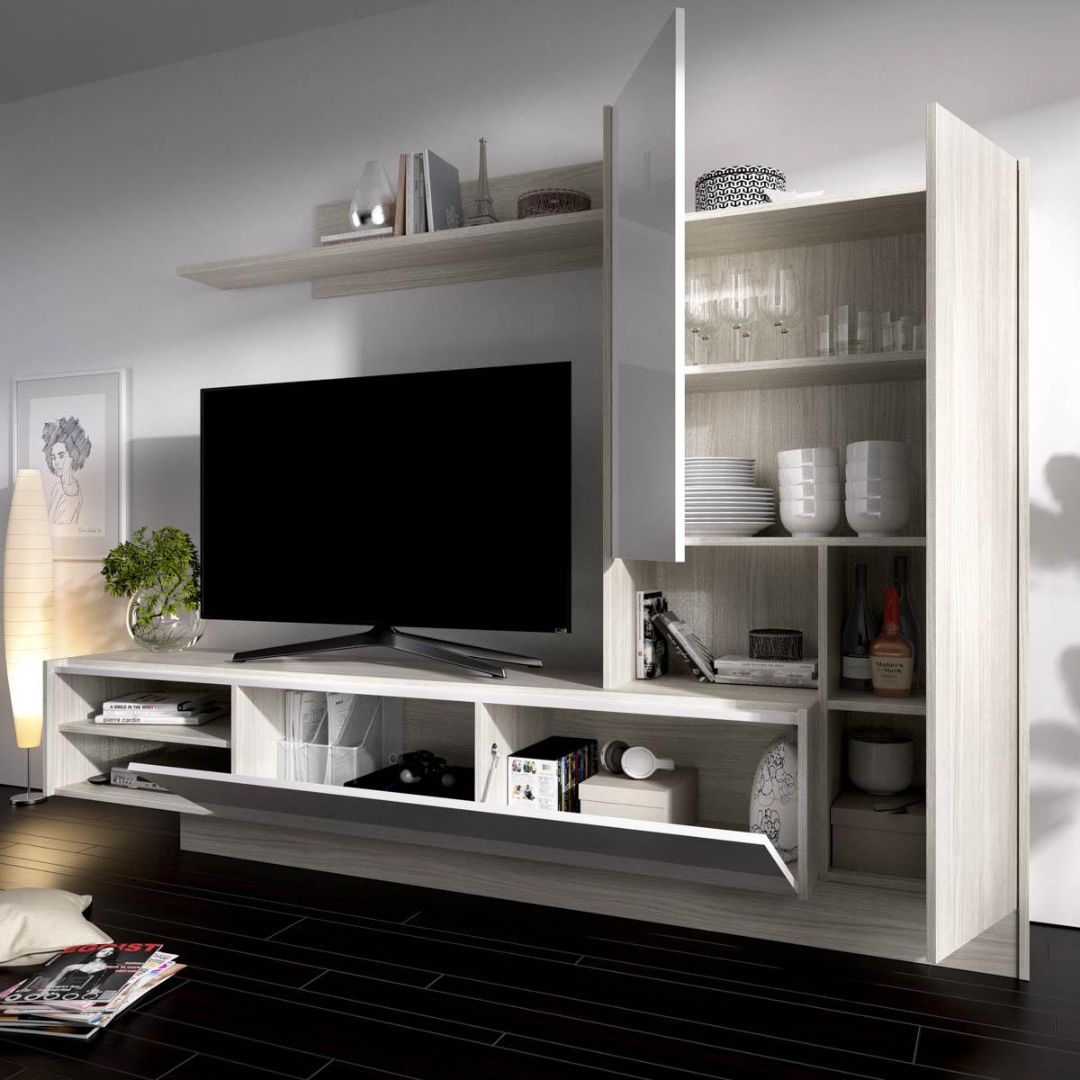 mueble de comedor salon tv compacto 6