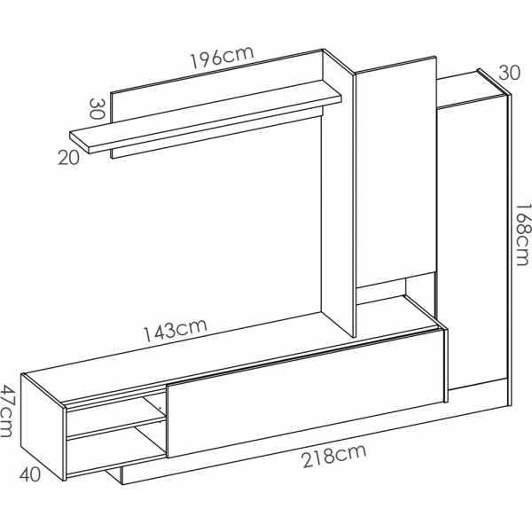 mueble de comedor salon tv compacto 7