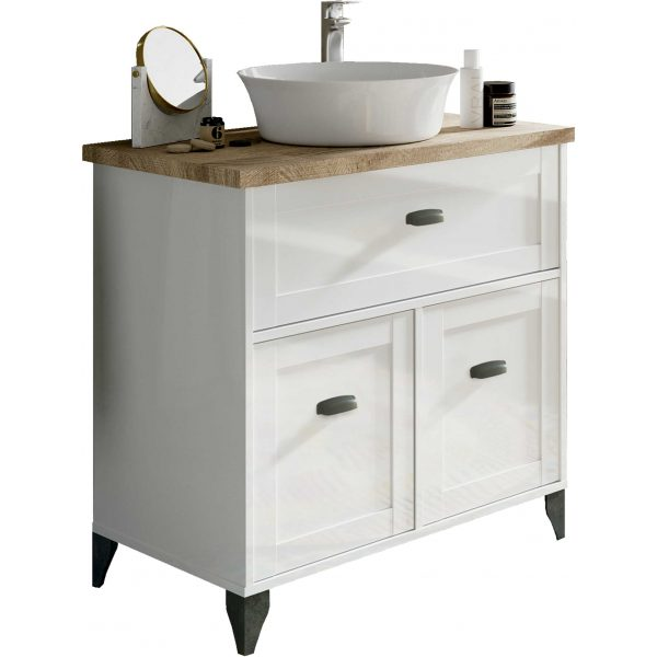 mueble de lavabo blanco