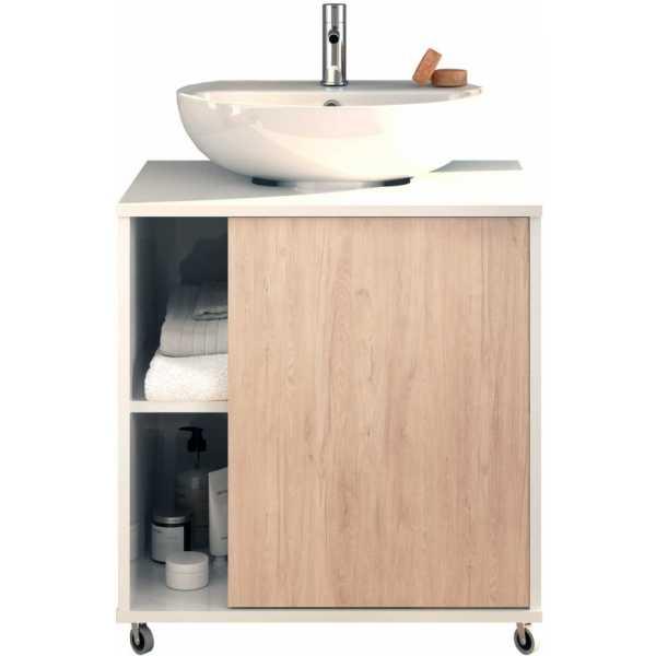 mueble de lavabo con ruedas
