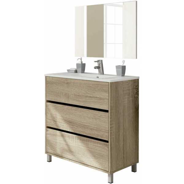 mueble de lavabo roble
