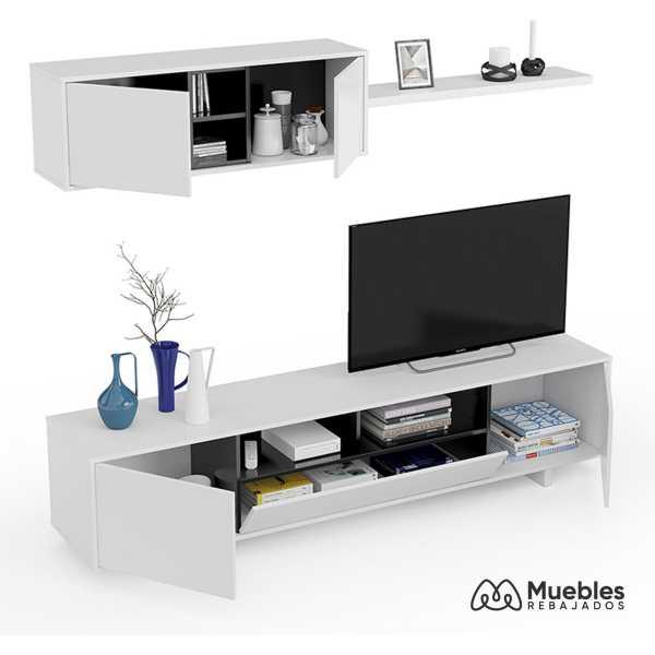 mueble de salon blanco barato 0t6682bo