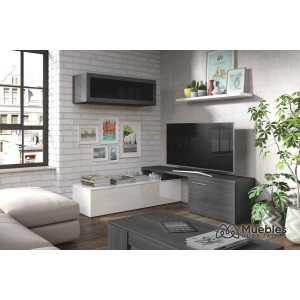 mueble de salon de diseño con puertas 016667g