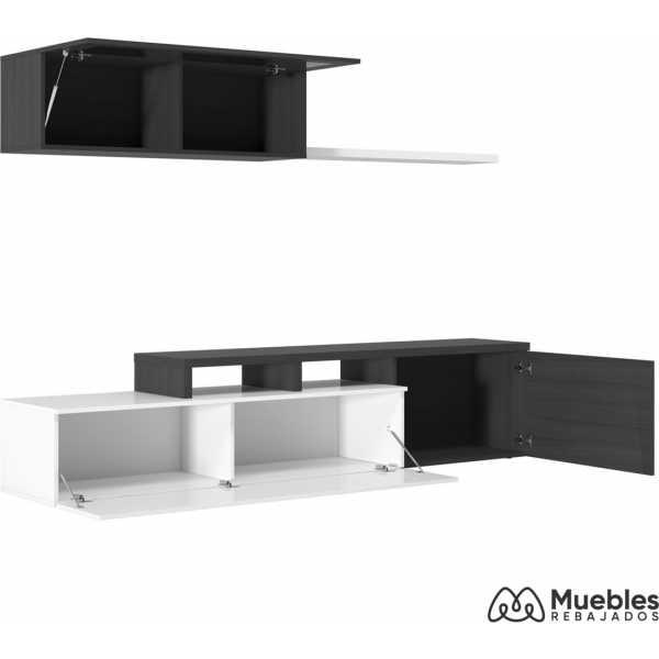 mueble de salon de diseño gris ceniza 016667g