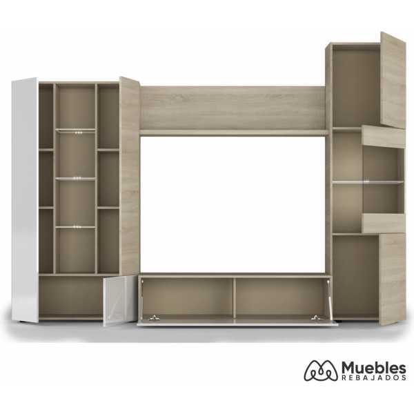 mueble de salon moderno roble 016642f