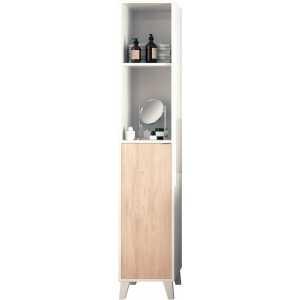 mueble lavabo alto y estrecho