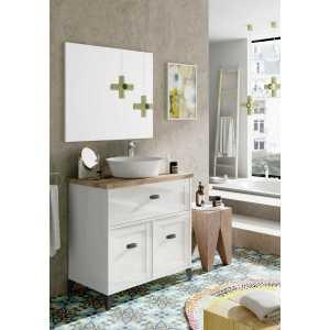 mueble lavabo blanco