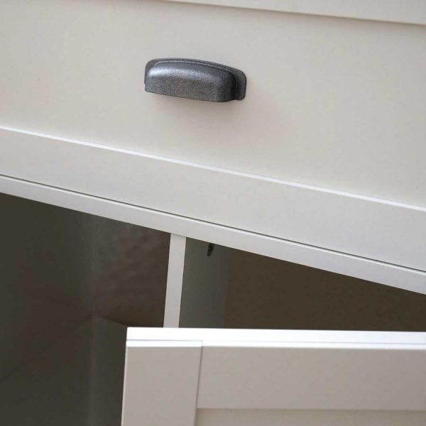 mueble lavabo blanco tirador