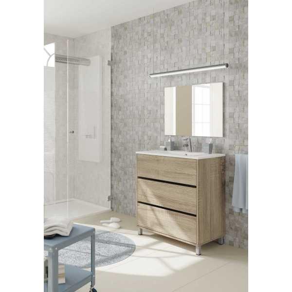 mueble lavabo roble