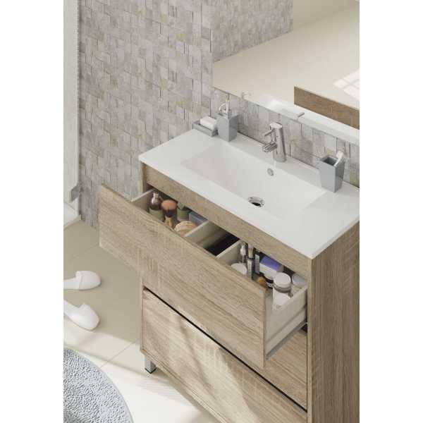 mueble lavabo roble kalma