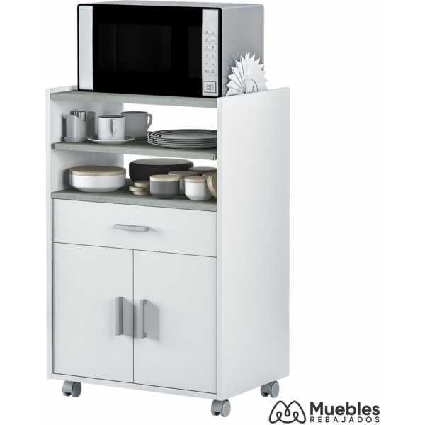 mueble para microondas y horno blanco 0l9910o