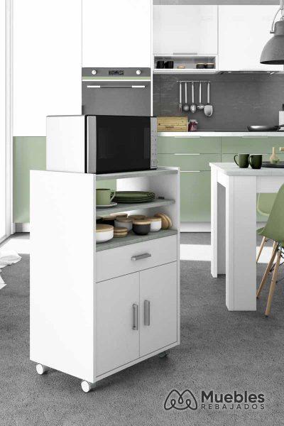Mueble para microondas y horno cocina 0l9910o