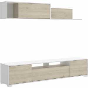 mueble salon con puertas y estante 1