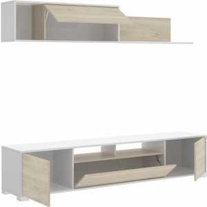 mueble salon con puertas y estante 2