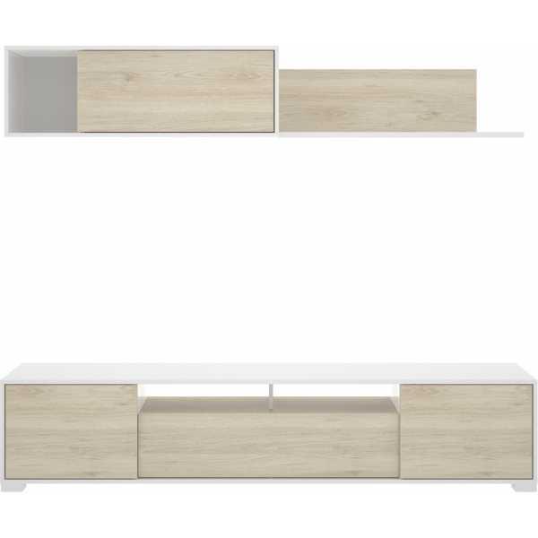 mueble salon con puertas y estante