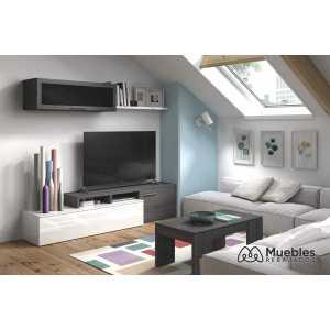 mueble salon tv gris ceniza 016667g