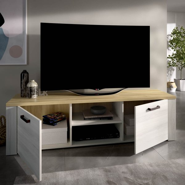 mueble tv 180 cm de 2 puertas milan 4