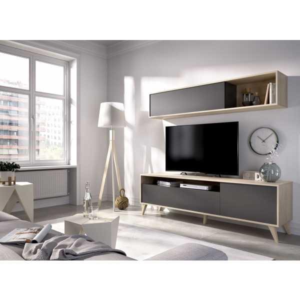 mueble tv 180 cm grafito 1