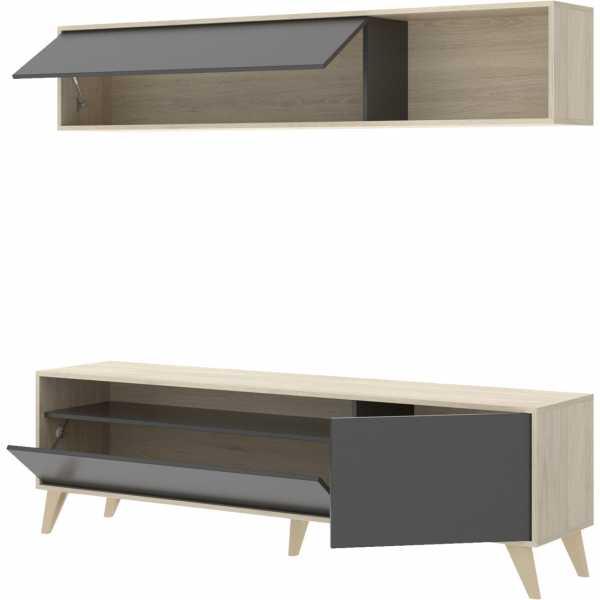 mueble tv 180 cm grafito 2
