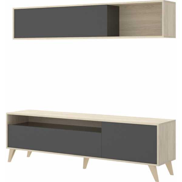 mueble tv 180 cm grafito 3