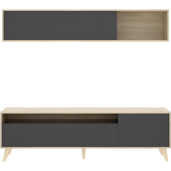 mueble tv 180 cm grafito 4