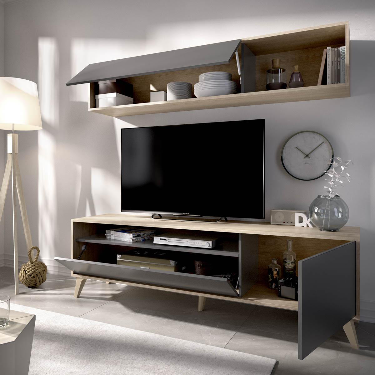 mueble tv 180 cm grafito