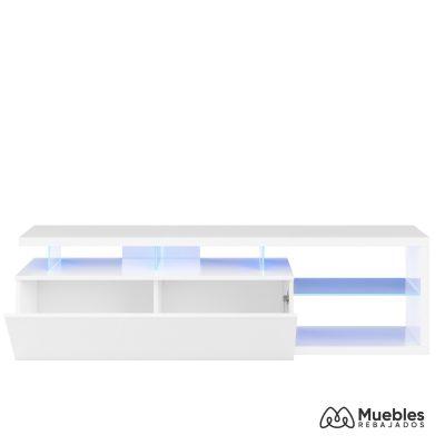 mueble tv con led blanco 026630bo