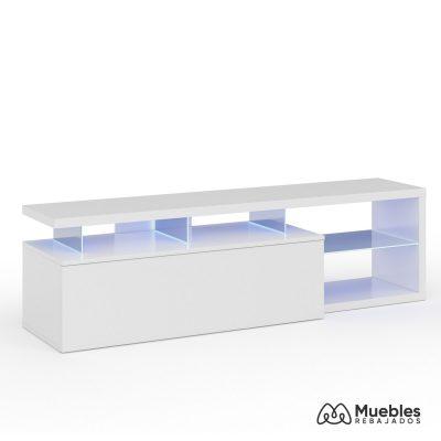 mueble tv led brillo 150 cm 026630bo