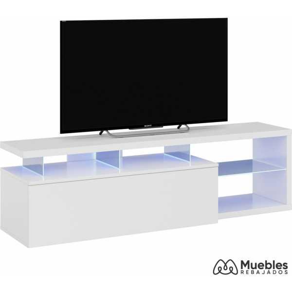 mueble tv led brillo 150x41x43 cm 026630bo