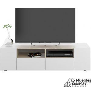 mueble tv madera y blanco moderno 0f6624a