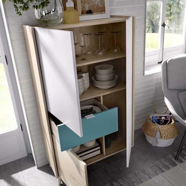 mueble vertical de 2 puertas y 1 cajon neo 1