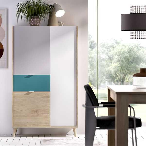 mueble vertical de 2 puertas y 1 cajon neo 2