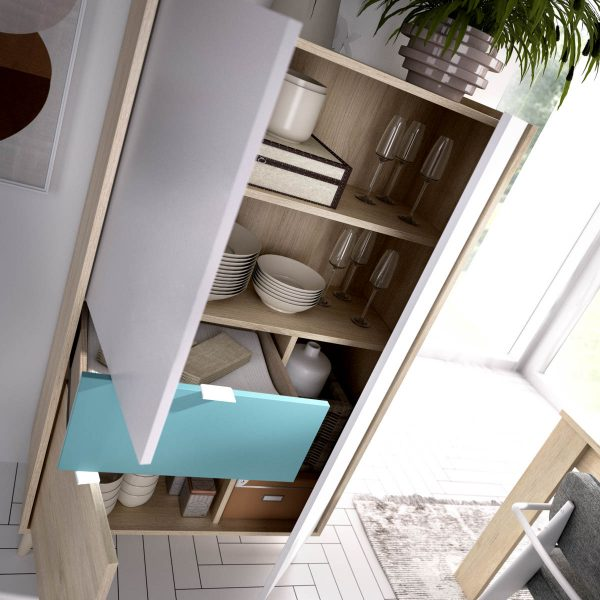 mueble vertical de 2 puertas y 1 cajon neo 3