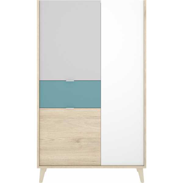 mueble vertical de 2 puertas y 1 cajon neo 4