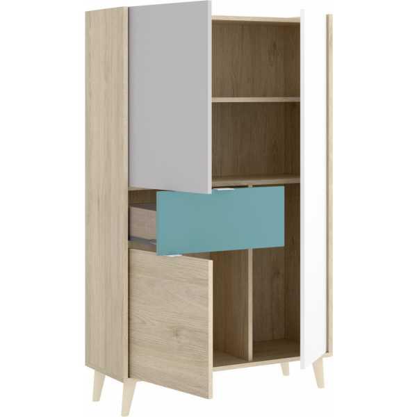 mueble vertical de 2 puertas y 1 cajon neo 6