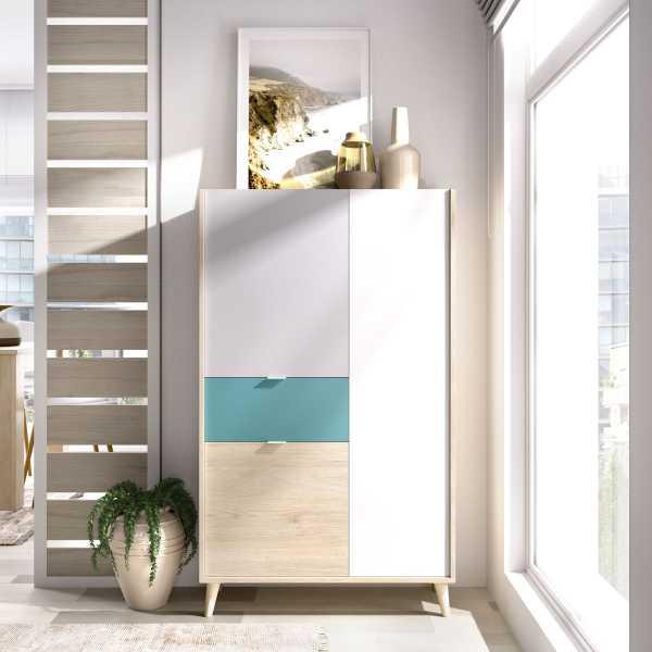 mueble vertical de 2 puertas y 1 cajon neo 7
