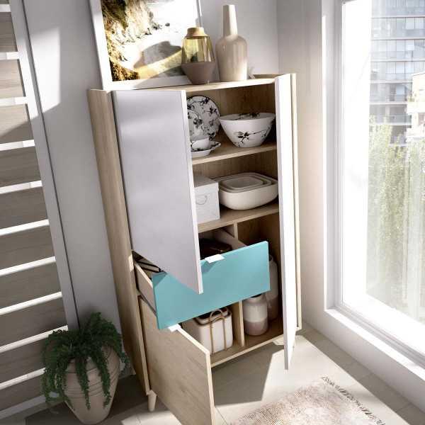 mueble vertical de 2 puertas y 1 cajon neo 8