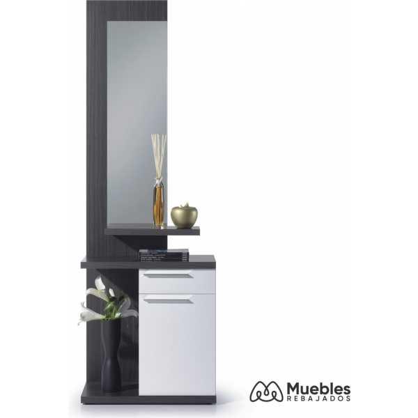 muebles recibidor con espejo blanco 016746g